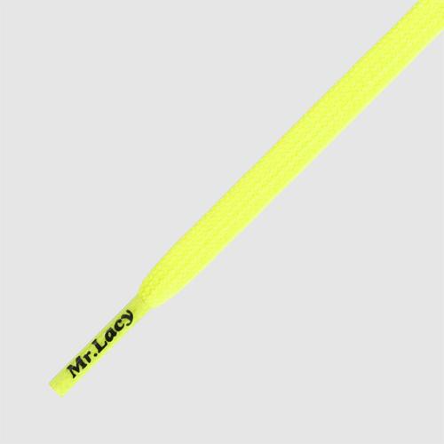 Goalies Neon Lime Yellow - זוג שרוכים לנעלי כדורגל בצבע צהוב ניאון