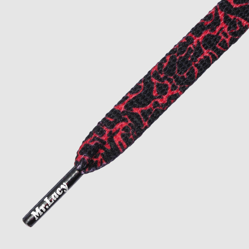 Printies Elephant Red/Black - זוג שרוכים עם הדפס בצבע שחור אדום