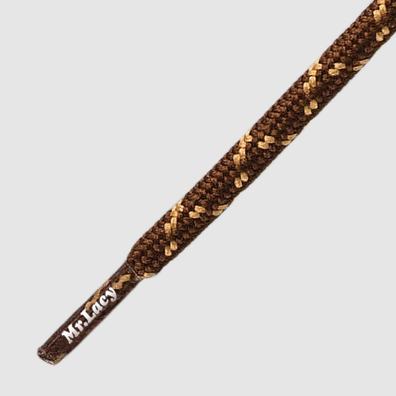 180 Hikies Round Dark Brown/Light Brown- זוג שרוכים עגולים בצבע חום כהה עם חום בהיר