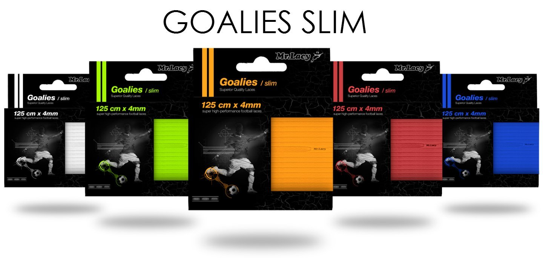 Goalies Slim Orange- שרוכים עגולים צרים לנעלי כדורגל בצבע כתום