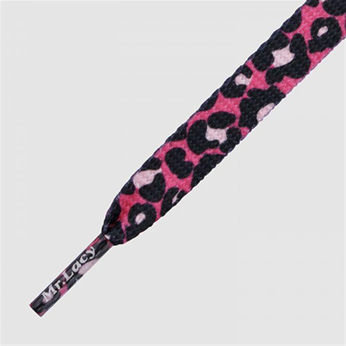 Printies Leopard Hot pink - זוג שרוכים עם ההדפס מנומר ורוד