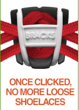 BRACKS זוג קליפ נעילה לשרוכים שחור ורוד