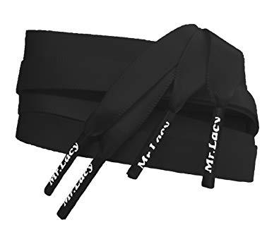 Silkies Black - זוג שרוכי משי בצבע שחור 120 ס