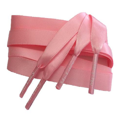 Silkies Pink - זוג שרוכי משי בצבע ורוד 120 ס
