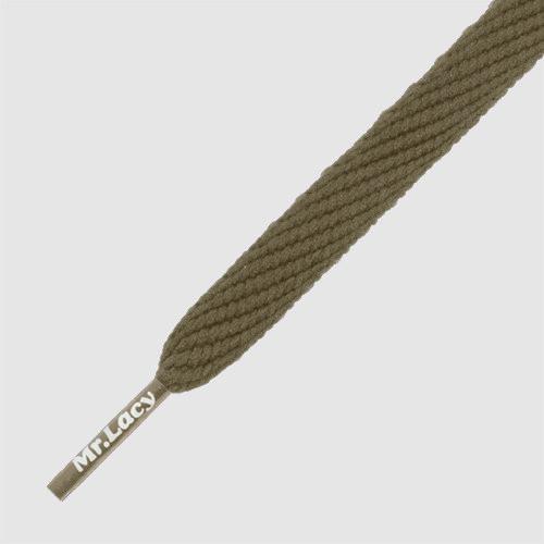 Flatties Khaki- זוג שרוכים שטוחים בצבע חום חאקי