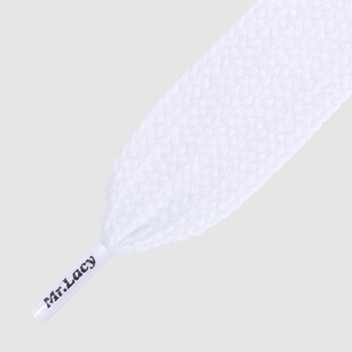 Fatties White- שרוכים שטוחים רחבים במיוחד בצבע לבן