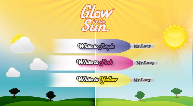 Glow In The Sun Purple- זוג שרוכים זוהרים בשמש בצבע סגול