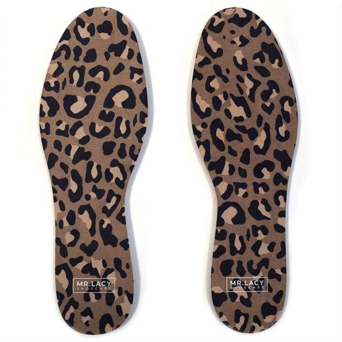 Mr. Lacy Insole Pack Leopard - זוג רפידות איכותיות בצבע מנומר חום