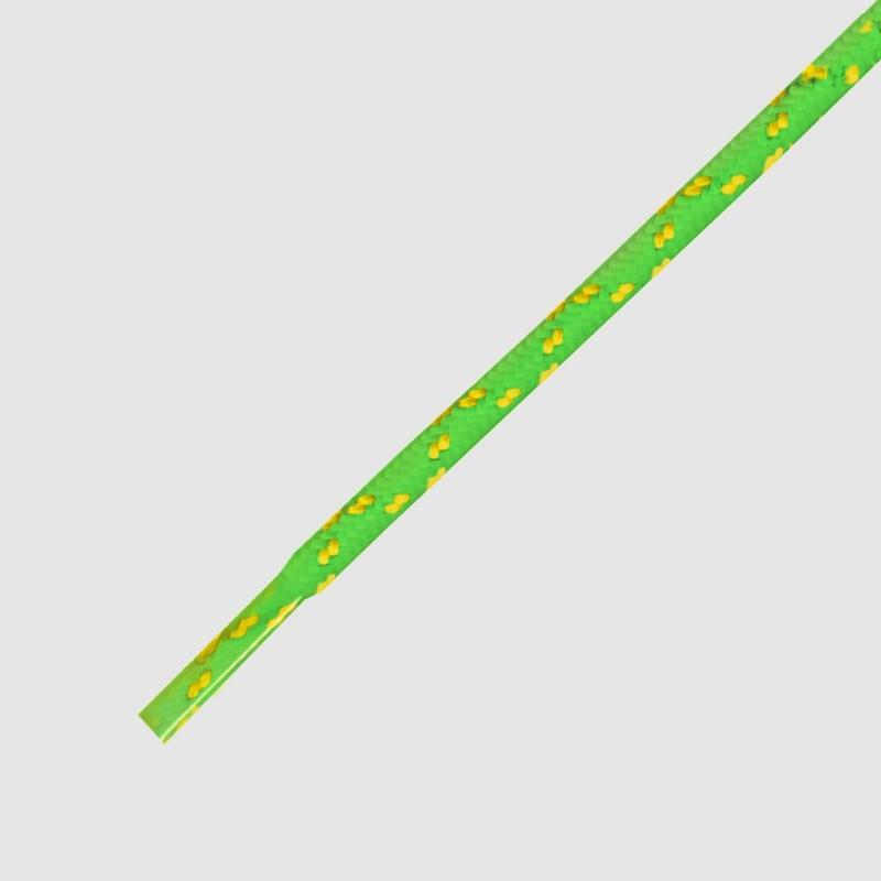 115 Hikies Energy- זוג שרוכים עגולים בצבע צהוב ניאון עם ירוק נאון
