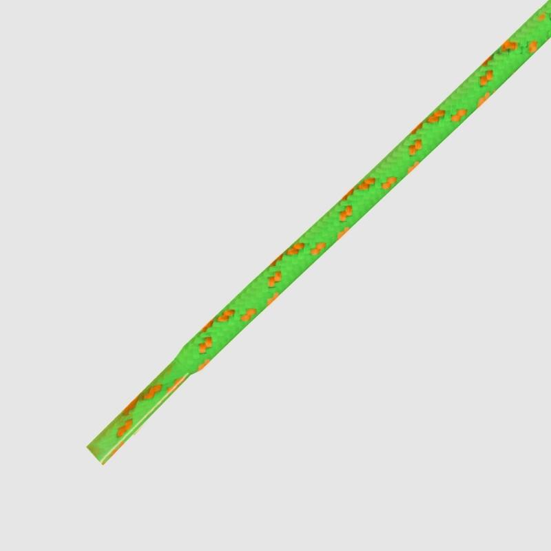 115 Hikies Energy- זוג שרוכים עגולים בצבע כתום עם ירוק נאון