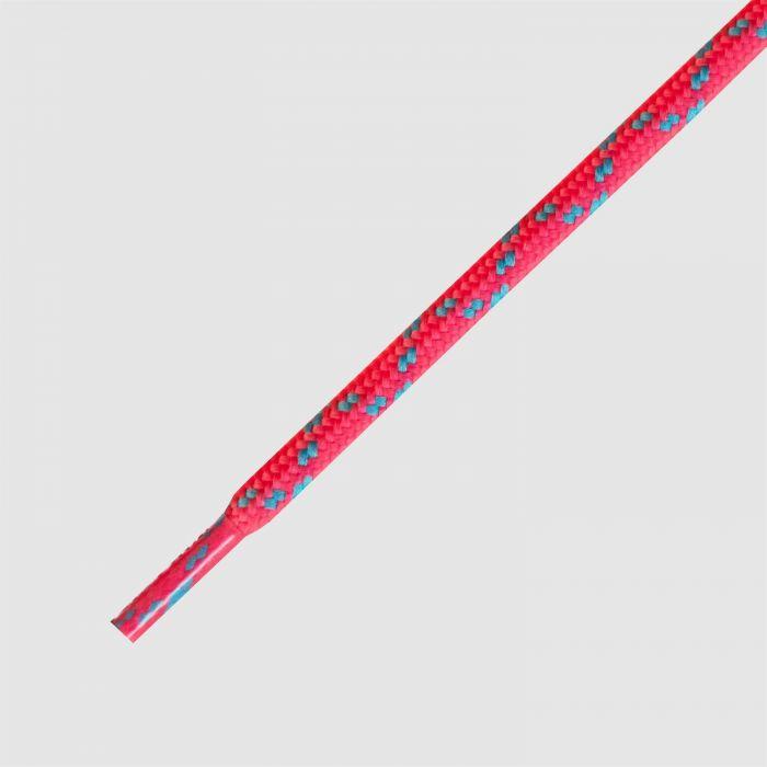 115 Hikies Energy- זוג שרוכים עגולים בצבע ורוד ניאון עם תכלת