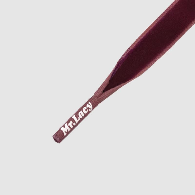 Velvies Purple - זוג שרוכי קטיפה בצבע סגול 100 ס