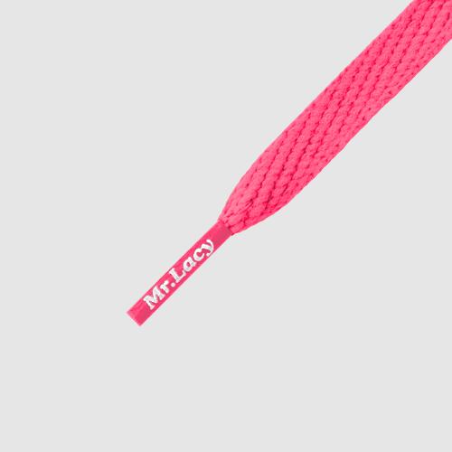 Smallies Neon Pink- זוג שרוכים קצרים בצבע ורוד ניאון