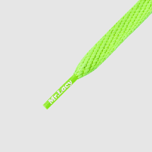 Smallies Neon Green- זוג שרוכים קצרים בצבע ירוק ניאון