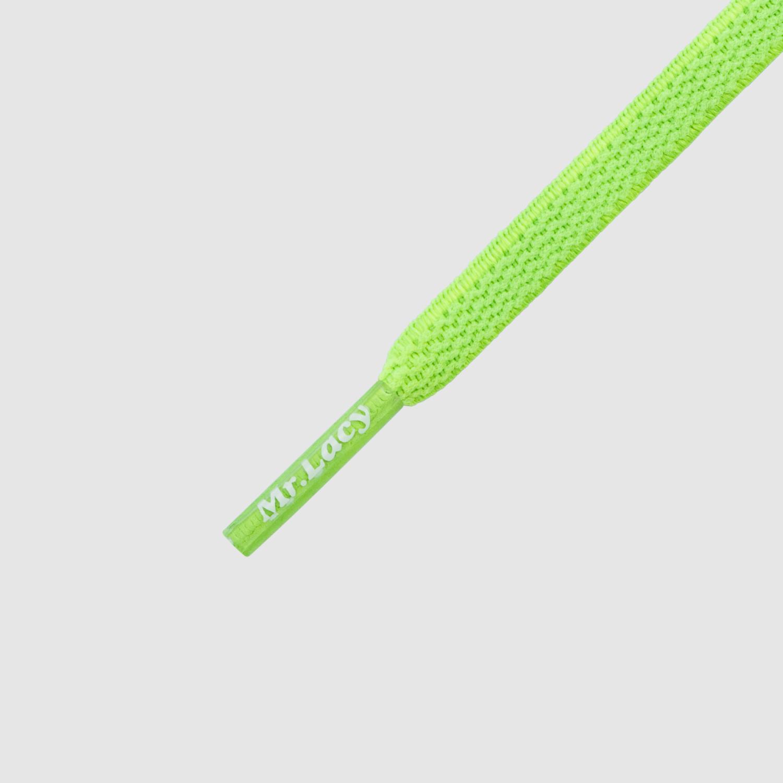 90 Flexies Neon Green- זוג שרוכים אלסטיים בצבע ירוק ניאון