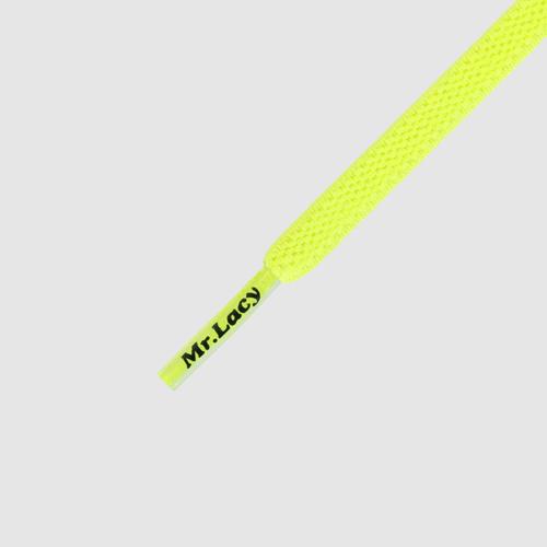 90 Flexies Neon Lime Yellow- זוג שרוכים אלסטיים בצבע צהוב ליים ניאון