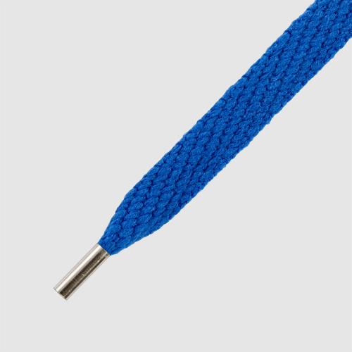 Magnies Royal Blue- זוג שרוכים שטוחים בצבע כחול רויאל עם אגלט מגנט