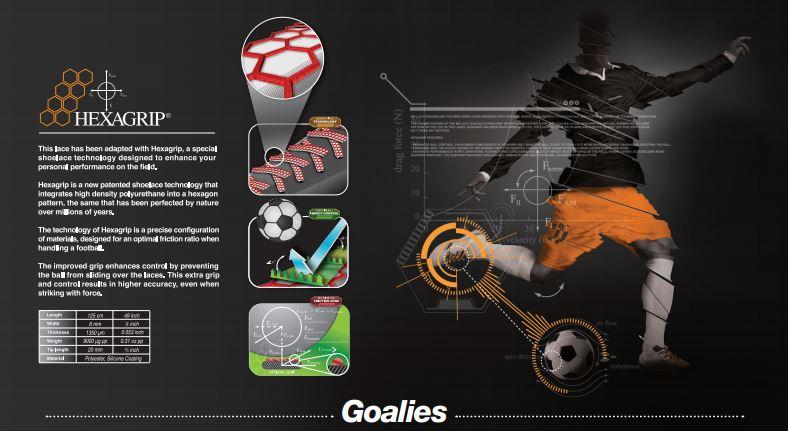 Goalies Black Orange- זוג שרוכים לנעלי כדורגל בצבע שחור כתום