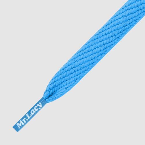 Flatties Cyan- זוג שרוכים שטוחים בצבע טורקיז