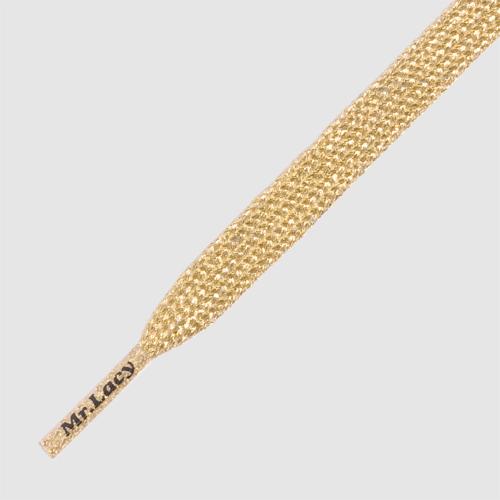 Flatties Gold- זוג שרוכים שטוחים בצבע זהב