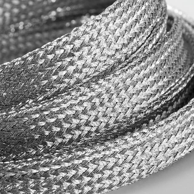 Flatties Silver- זוג שרוכים שטוחים צבע כסף