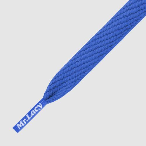 Flatties Junior Royal Blue- זוג שרוכים שטוחים בצבע כחול מלכותי