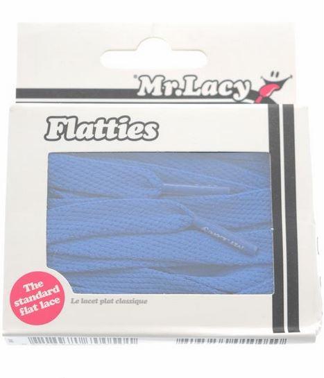 Flatties Junior Royal Blue- זוג שרוכים שטוחים לילדים בצבע כחול מלכותי