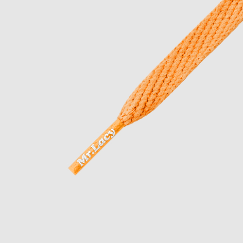 Smallies Bright Orange- זוג שרוכים קצרים בצבע כתום בהיר