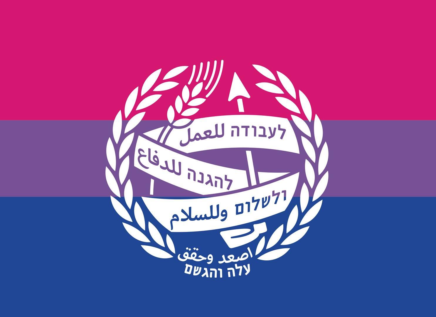 דגל הגאווה הביסקסואלית  bisexual flag עם/בלי לוגו
