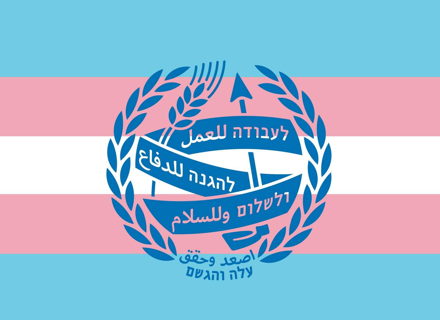 דגל הגאווה הטרנסקסואלית  Transgender flags עם/בלי לוגו