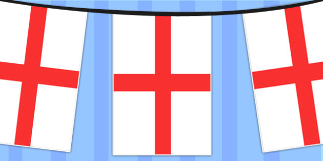 שרשרת דגלי אנגליה (10 מטר) ניתן להוסיף לוגו לקראת חצי הגמר!