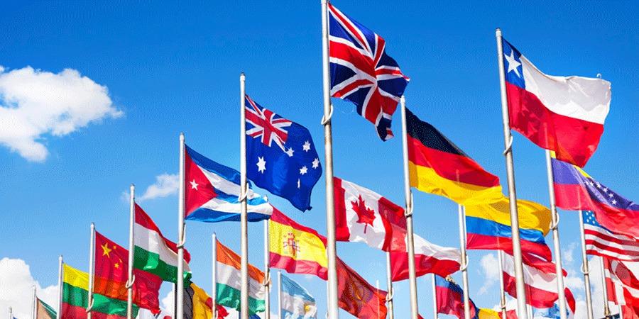 דגלי המדינות המשתתפות ביורו 2020 בכל מידה!