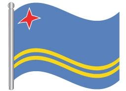 דגל ארובה - Aruba flag
