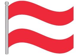 דגל אוסטריה - Austria flag