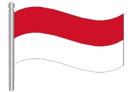 דגלון מונקו - Monaco flag