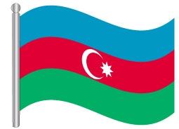 דגל אזרבייג'ן - Azerbaijan flg