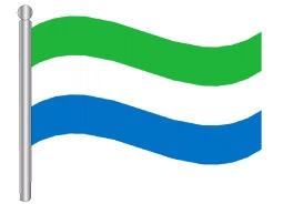 דגל סיירה לאונה - Sierra Leone flag