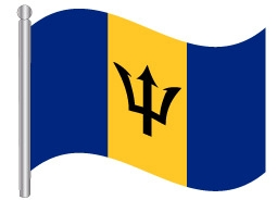 דגל ברבדוס - Barbados flag