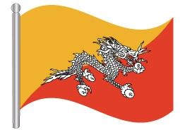 דגל בהוטן - Bhutan flag