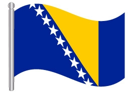 דגל בוסניה והרצגובינה -  bosnia and herzegovina flag