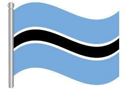 דגל בוטסואנה - Botswana flag