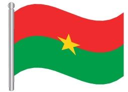 דגל בורקינה פאסו - Burkina Faso flag