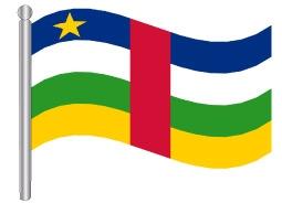דגל הרפובליקה המרכז אפריקאית - Central African Republic flag