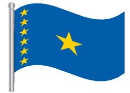 דגל הרפובליקה הדמוקרטית של קונגו - Republic of the Congo Democratic flag
