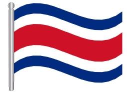 דגל קוסטה ריקה - Costa Rica flag