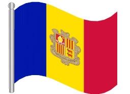 דגל אנדורה - Andorra flag