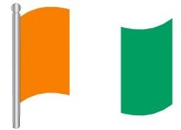 דגל רפובליקת חוף השנהב - Coste d'Ivoire