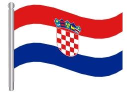 דגלון קרואטיה - Croatia flag