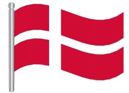 דגלון דנמרק - Denmark flag