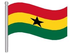 דגלון גאנה - Ghana flag